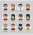 set of people icons your office team professions vector image vector image