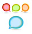 Set of round colour blur talk bubbles vector image vector image