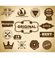 Set of vintage labels on the cardboard Collection vector image vector image