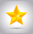 shiny yellow star icon vector image vector image