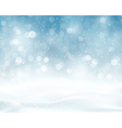 Silver blue winter Christmas blurry lights vector image vector image