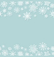simple christmas background with snowflakes vector image