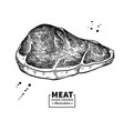 sirloin steak drawing red meat hand drawn vector image vector image