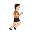 sport man running active athletic cartoon vector image vector image
