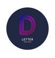 the letter d latin alphabet display vector image vector image