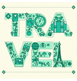 Time to Travel Retro Lettering with Outline Style vector image vector image