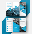 tri-fold brochure with a place for photos vector image vector image