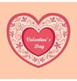 Valentines Day logo vector image