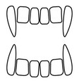 vampires teeths icon black color flat style vector image vector image