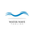 water wave graphic design template vector image vector image
