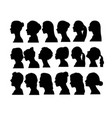 woman avatar silhouettes vector image