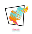 womans face logo design template womans face vector image