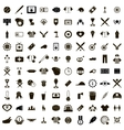 100 Baseball icons set vector image