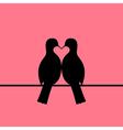Birds couple forming heart vector image
