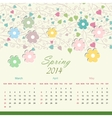 Calender of 2014 year vector image