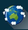 australia globe icon vector image