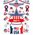 USA icons vector image