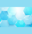 abstract blue technology digital hi tech hexagons vector image vector image