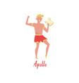 apollo olympian greek god ancient greece myths vector image