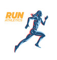 art concept a running woman vector image vector image