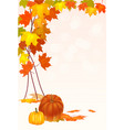 autumn foliage sale banner vector image vector image
