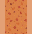 autumn seamless pattern with leaves graphics vector image