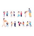 bad behavior boy girl bully child has vector image vector image