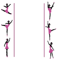 ballerinas dancing frame vector image vector image