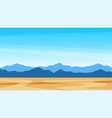 beautiful southern scenic landscape with mountains vector image vector image
