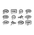black speech bubble icons set wish inscription vector image
