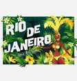 brazilian samba dancer carnival in rio de janeiro vector image vector image