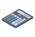 business calculator icon isometric style vector image vector image
