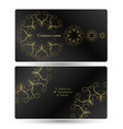 business card with gold ornament vector image vector image