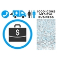 Business Case Icon with 1000 Medical Business vector image vector image