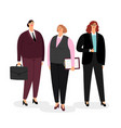 businesswomen set on white vector image