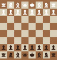 chessboard top view flat design chess board vector image