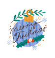 christmas decoration with celebratory lettering vector image