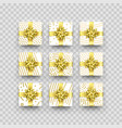 christmas gift box or present with golden ribbon vector image vector image