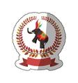 Circus elephant cartoon vector image