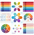 collections infographics elements template 6 vector image