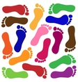 Colored footprints vector image vector image