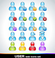 Colorful User Icons Set vector image