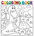coloring book dinosaur topic 8 vector image vector image
