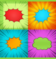 comic colorful bright frames composition vector image