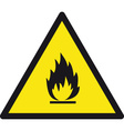 danger flammable safety sign vector image vector image