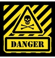 danger sign yellow and black vector image vector image