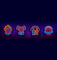 darts collection neon signs vector image