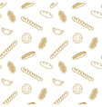 Edible pattern with bread rolls cookies cereals vector image vector image