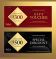 elegant gift voucher or discount card template vector image vector image