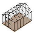 empty greenhouse with closed door vector image vector image